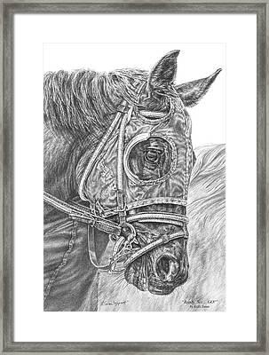 Ready Set Go - Race Horse Portrait Print Framed Print