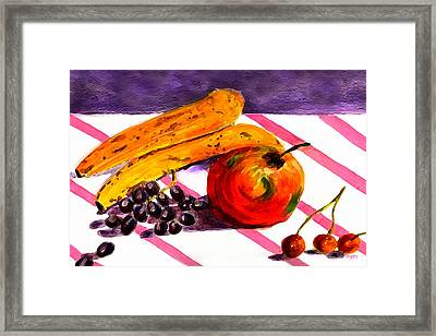 Framed Print featuring the painting Ready-to-eat by Paula Ayers