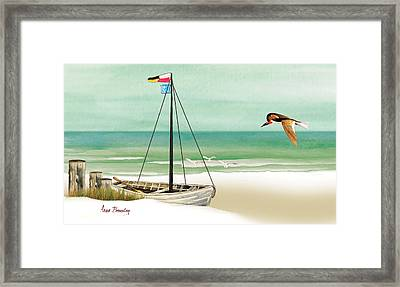 Framed Print featuring the painting Ready To Go by Anne Beverley-Stamps