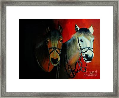 Ready To Race Framed Print by Preethi Mathi