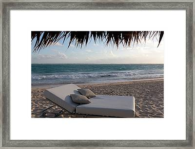 Ready To Relax On A Tropical Beach Framed Print by Karen Lee Ensley