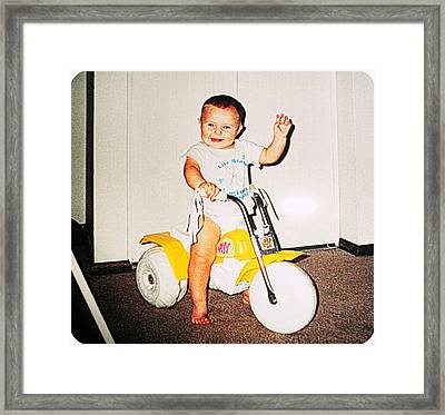 Ready To Ride... Framed Print by Camille Reichardt