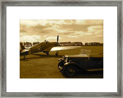 Ready To Scramble - Spitfire Framed Print by John Colley