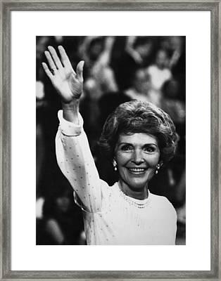 Reagan Presidency. Future First Lady Framed Print by Everett
