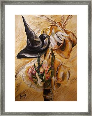 Real Women Wear Many Hats Framed Print