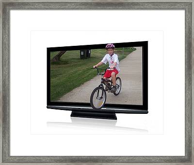 Reality Television Framed Print by Joanne Kocwin