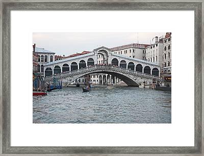 Realto Bridge Framed Print by Cheri Randolph