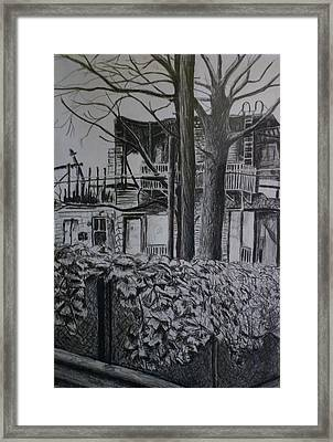 Rear View At Greene Ave. Brooklyn Framed Print by Victor SOTO