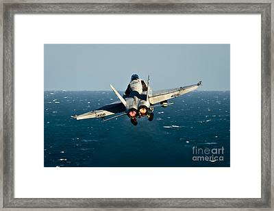 Rear View Of An Fa-18c Hornet Taking Framed Print by Stocktrek Images