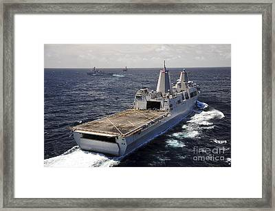 Rear View Of Uss Green Bay Framed Print by Stocktrek Images