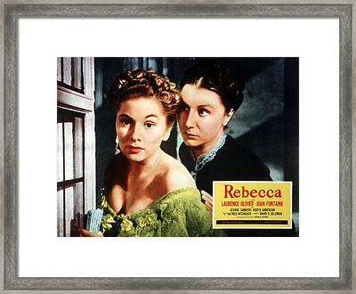 Rebecca, From Left Joan Fontaine Framed Print by Everett