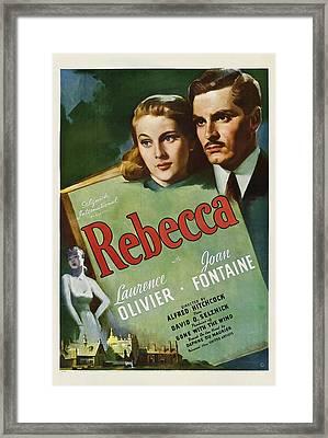 Rebecca, Joan Fontaine, Laurence Framed Print by Everett