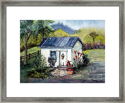 Framed Print featuring the painting Rebecca's Shack by Gretchen Allen