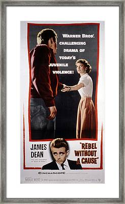 Rebel Without A Cause, James Dean Framed Print by Everett