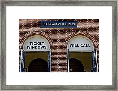 Rec Hall Framed Print by Tom Gari Gallery-Three-Photography