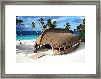 Reception Dhoni. Maldives Framed Print by Jenny Rainbow