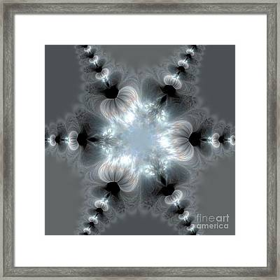 Recharge - The Beauty Of Simple Fractal Framed Print by Vidka Art
