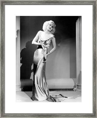 Reckless, Jean Harlow, In A  Dress Framed Print by Everett