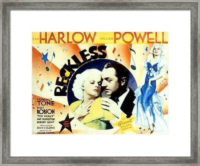 Reckless, Jean Harlow, William Powell Framed Print by Everett