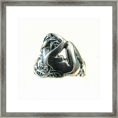 Reclining #nude #sterling #ring - Part Framed Print
