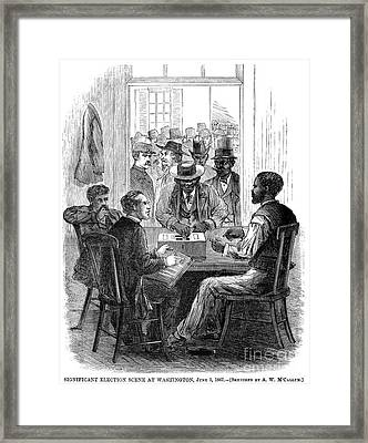 Reconstruction, 1867 Framed Print