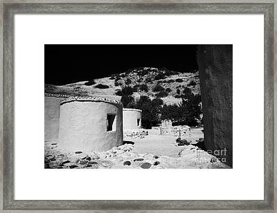 reconstruction of Choirokoitia ancient neolithic village settlement republic of cyprus Framed Print by Joe Fox