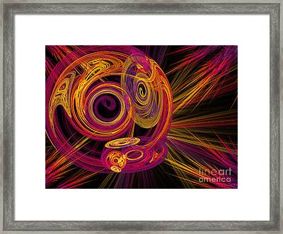 Record Time Machine Framed Print by Andee Design