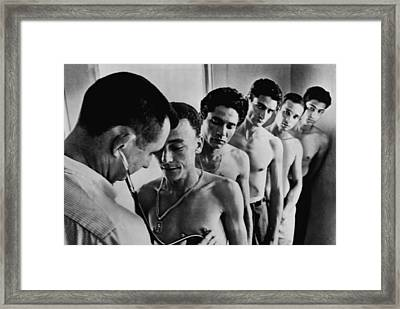 Recruits For The Bay Of Pigs Invasion Framed Print by Everett