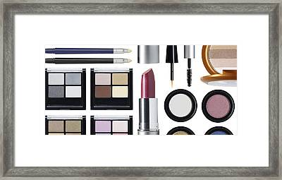 Rectangular Cosmetic Arrangement Framed Print