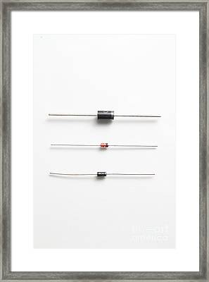 Rectifier & Zener Diodes Framed Print by Photo Researchers, Inc.