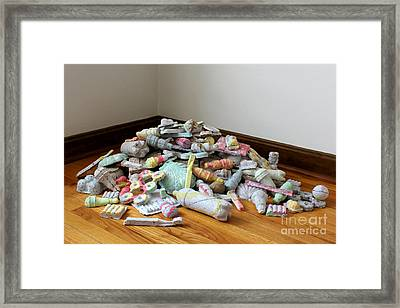 Recycleable Isn't Always Recycled  Framed Print