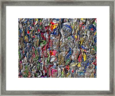 Recycled Aluminum Cans Framed Print by David Buffington