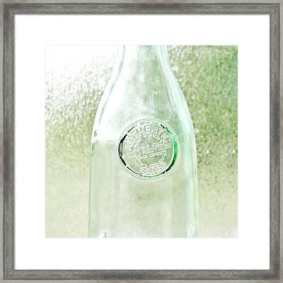 Recycled Glass Framed Print by Tom Gowanlock