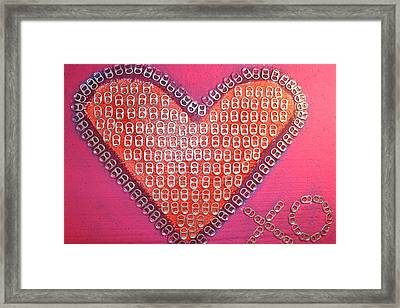 Recycled Love Framed Print by James Briones