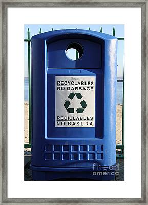 Recycling Bin Framed Print by Photo Researchers, Inc.