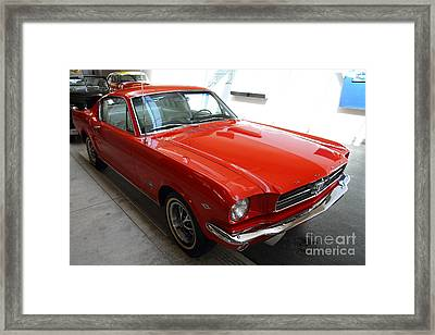 Red 1965 Ford Mustang Framed Print by Wingsdomain Art and Photography