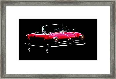 Red Alfa Romeo 1600 Giulia Spider Framed Print by Steve K