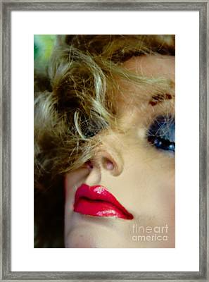 Red And Blue Framed Print by David Taylor