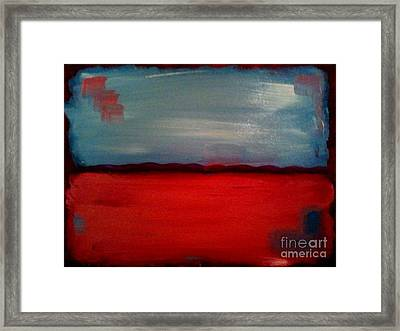 Red And Blue Framed Print by J Von Ryan