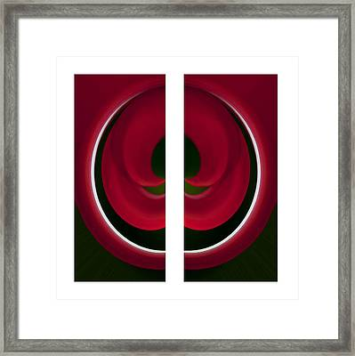 Red And Green Abstract Framed Print by Pat Exum