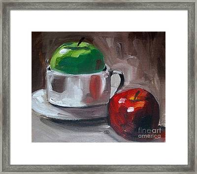 Red And Green Apples Framed Print by Samantha Black