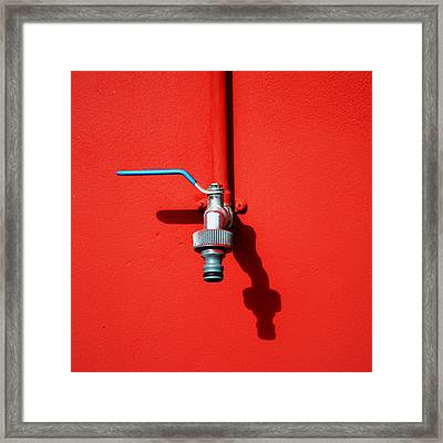 Red And Tap Framed Print by Saulgranda