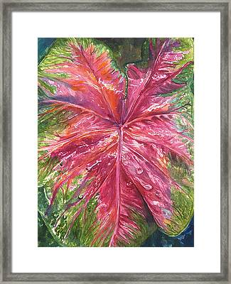 Framed Print featuring the painting Red And Wet by AnnaJo Vahle