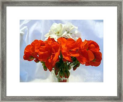 Framed Print featuring the photograph Red And White by Jim Sauchyn