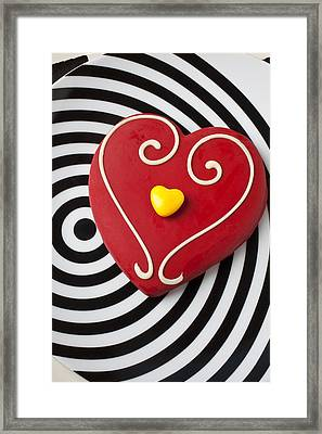 Red And Yellow Heart Framed Print by Garry Gay