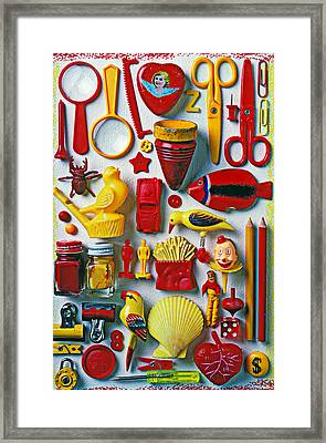 Red And Yellow Objects Framed Print by Garry Gay