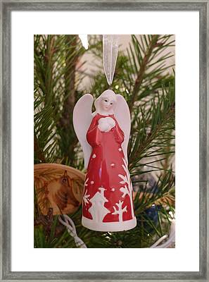 Framed Print featuring the photograph Red Angel by Richard Reeve