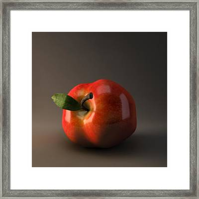 Red Apple Framed Print by BaloOm Animation Studios