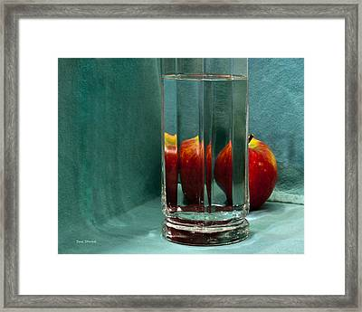 Framed Print featuring the photograph Red Apple by Susi Stroud