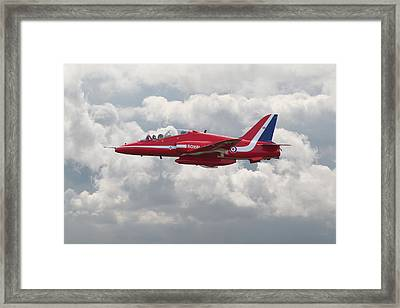 Red Arrows - Hawk Framed Print by Pat Speirs
